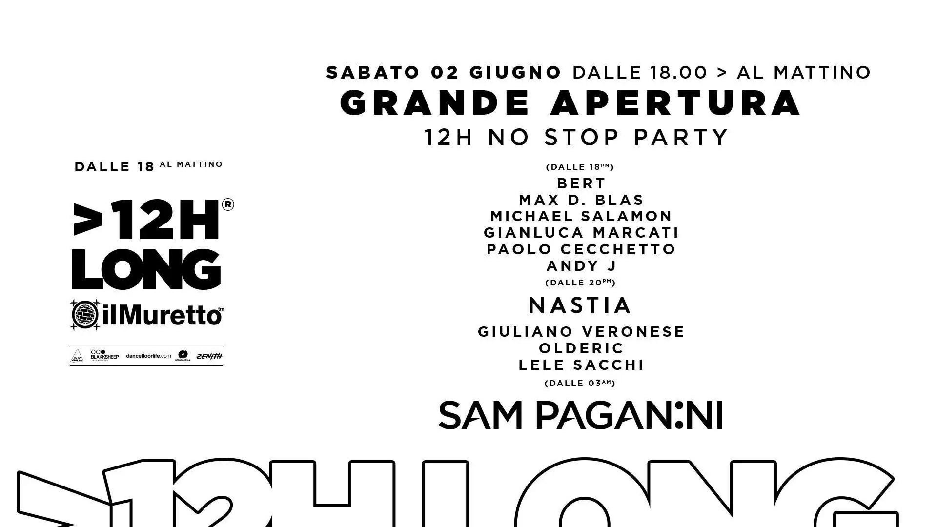 Il MURETTO JESOLO – Opening Party – 02 Giugno 2018   Ticket Tavoli Pacchetti hotel Prevendite