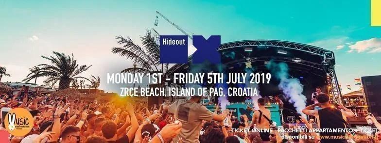 HIDEOUT FESTIVAL 2019, 01 – 05  Luglio 2019 – Zrce Beach Pag  Croazia