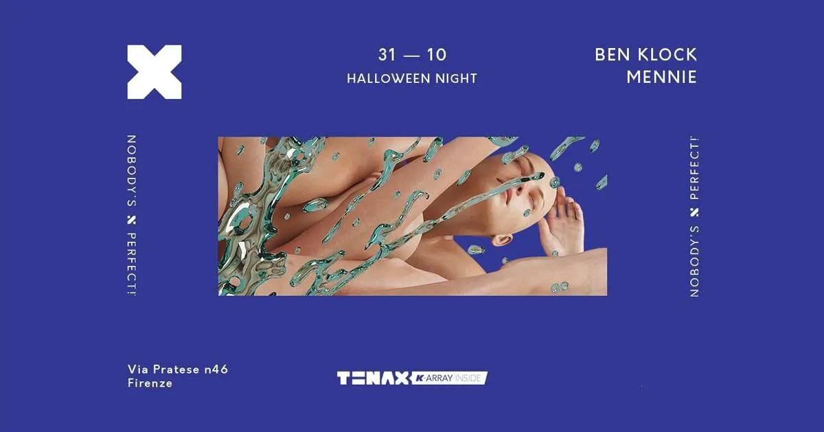 Ben Klock Tenax Firenze Halloween 31 Ottobre 2018 + Prezzi Ticket in Prevendita Biglietti Tavoli Liste Pacchetti Hotel