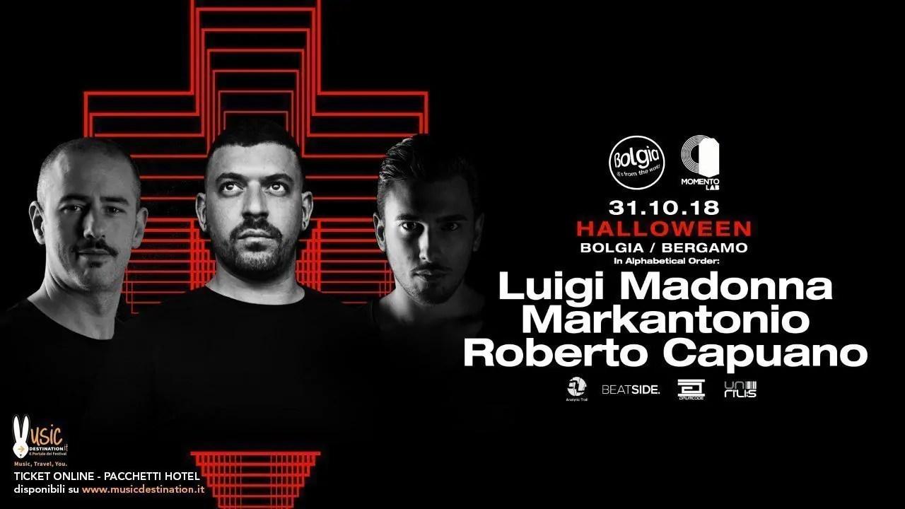 Halloween Bolgia Bergamo Luigi Madonna 31 Ottobre 2018 | Ticket Tavoli Pacchetti hotel Prevendite