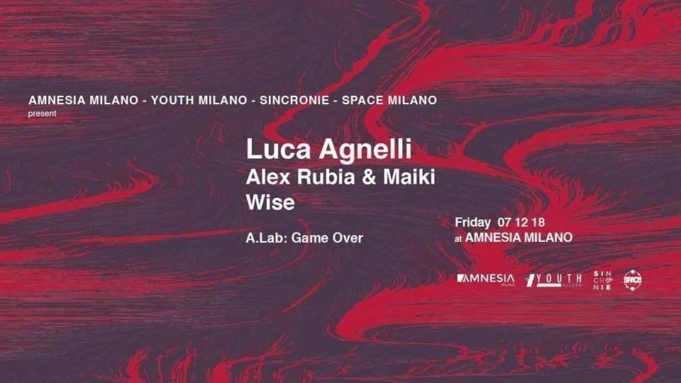 Luca Agnelli Amnesia Milano 07 Dicembre 2018 | Ticket in Prevendita – Tavoli – Pacchetti Hotel