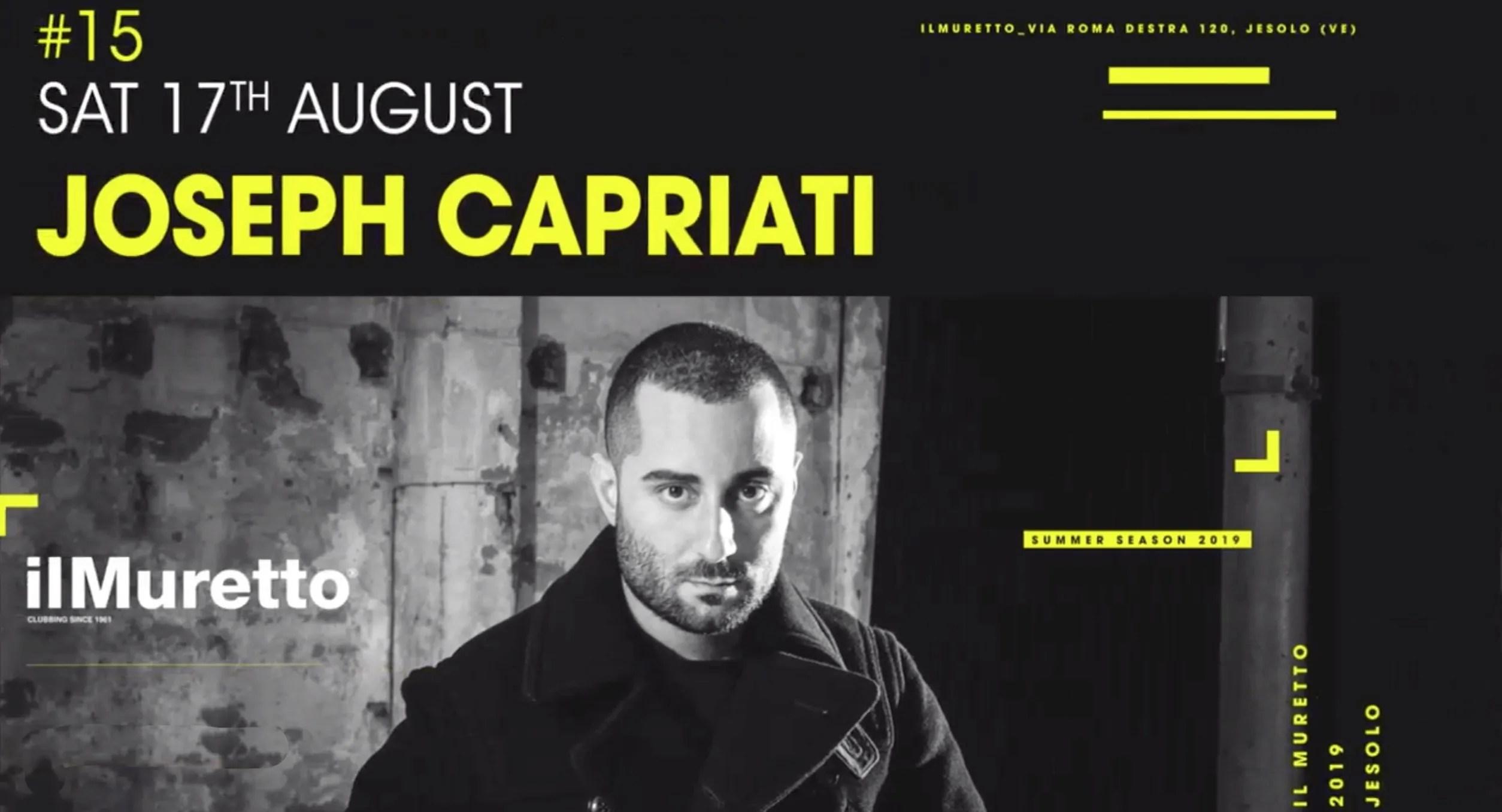 JOSEPH CAPRIATI Muretto Jesolo 17 AGOSTO 2019
