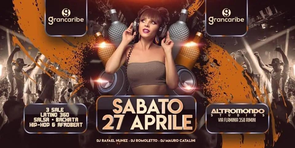 Grancaribe Altromondo Studios Rimini – Sabato 27 Aprile 2019 | Ticket Tavoli Pacchetti hotel Prevendite