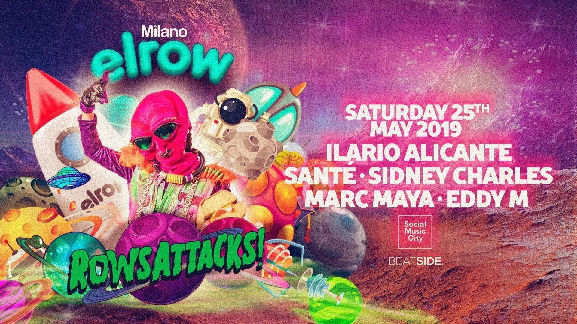 ElRow Social Music City Milano – Domenica 25 Maggio 2019 – Ticket in prevendita Biglietti Prevendite Tavoli Pacchetti Hotel