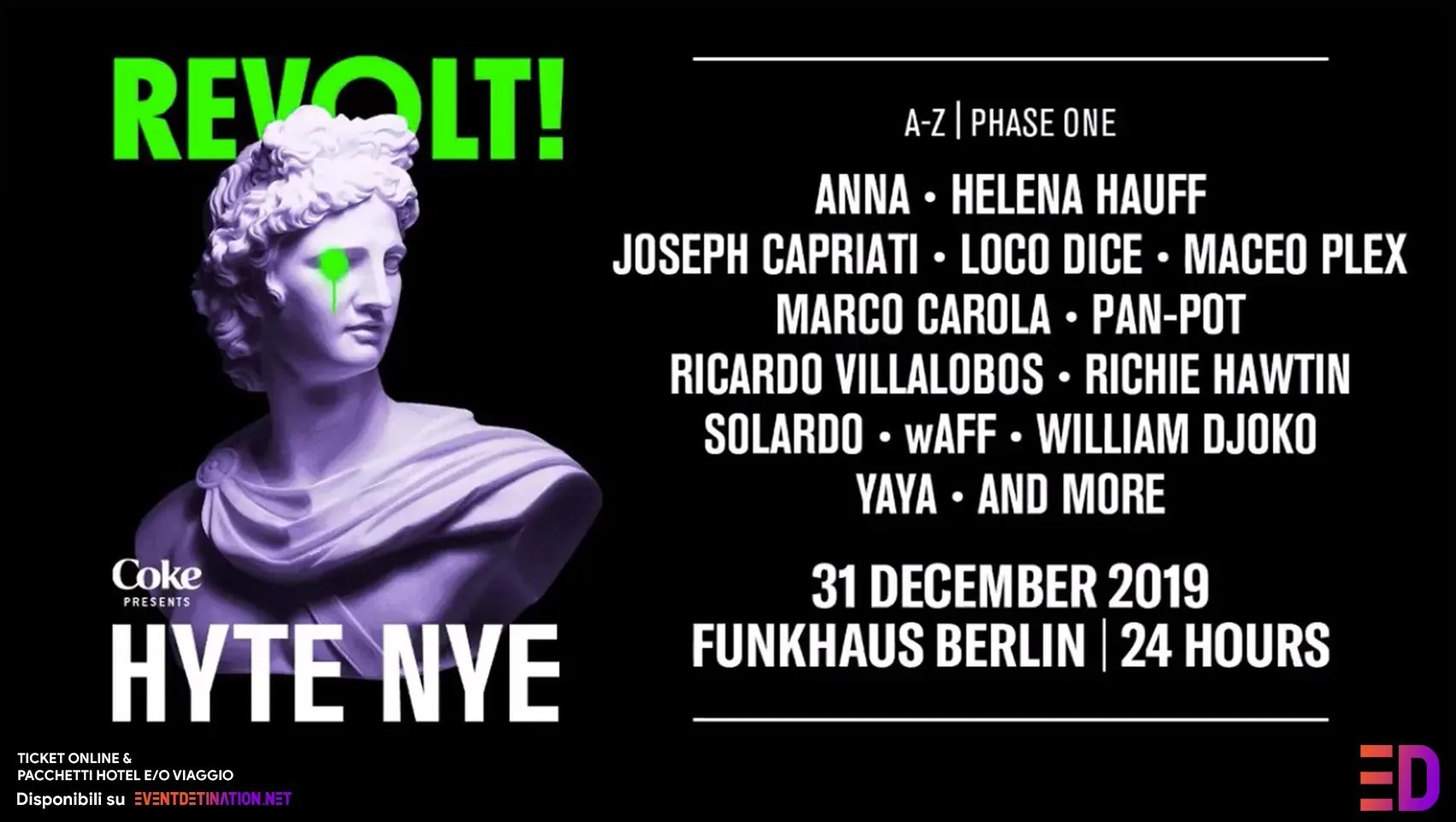 Hyte Berlin NYE 2019/2020 Funkhaus Berlino 31 Dicembre 2019   Ticket + Biglietti + Hotel + Viaggio