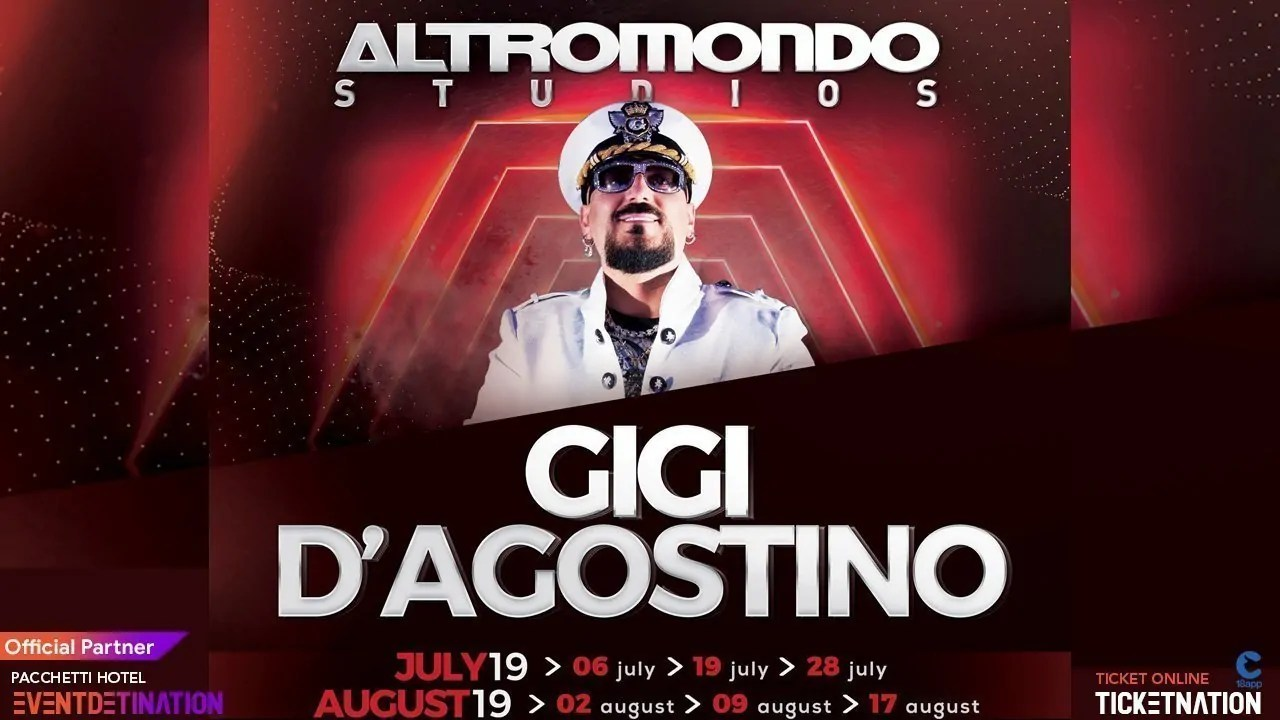 Gigi D'agostino Altromondo Studios Rimini Sabato 06 Luglio 2019 Notte Rosa + Prezzi Ticket/Biglietti/Prevendite 18APP Tavoli Pacchetti hotel