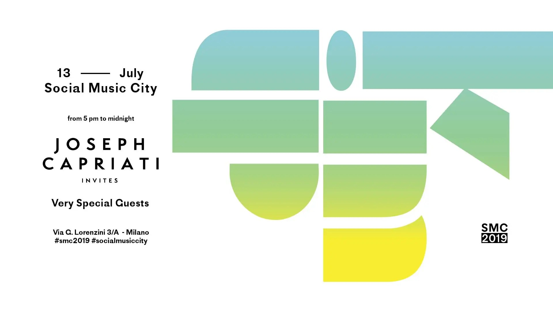 Joseph Capriati al Social Music City Milano – 13 07 2019 – Ticket in prevendita Biglietti Prevendite Tavoli Pacchetti Hotel