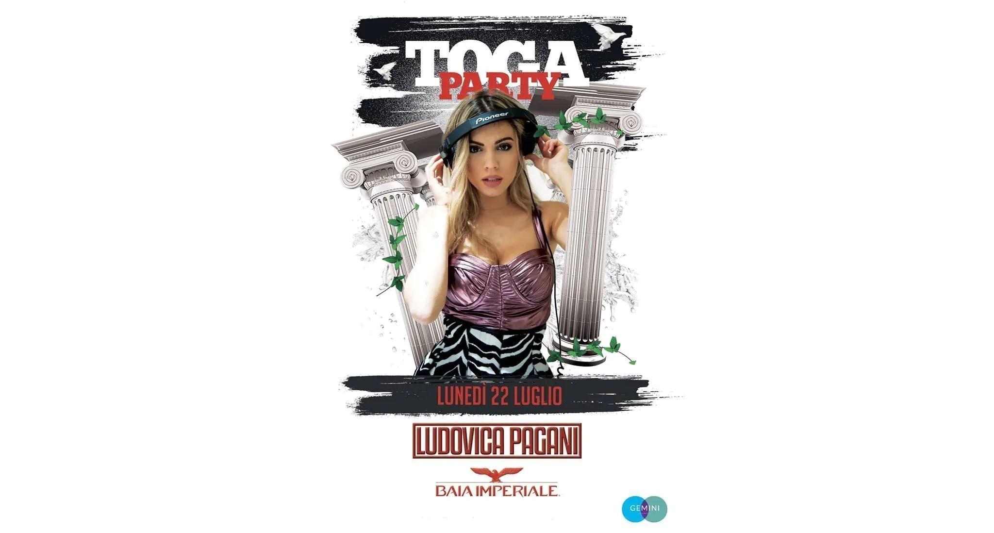 Lunedì 22 07 2019 Baia Imperiale Toga Party + Prezzi Ticket/Biglietti/Prevendite 18APP Tavoli Pacchetti hotel