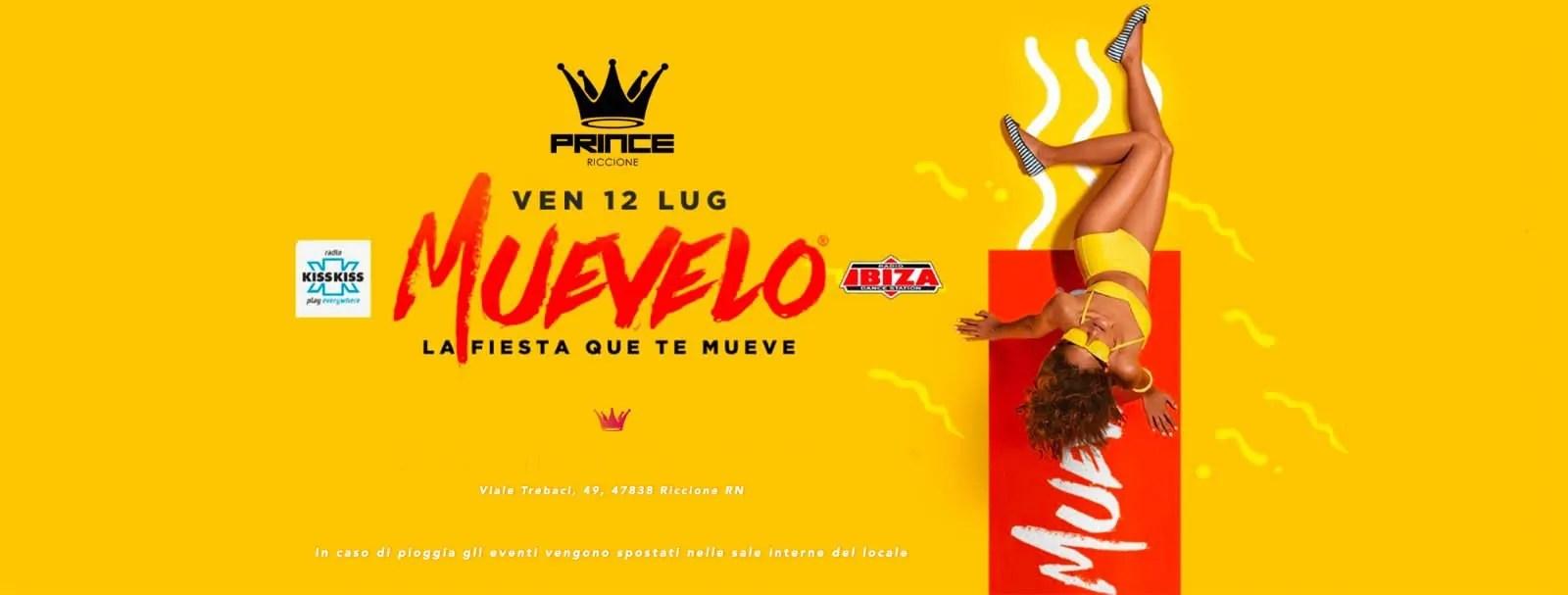 Prince Riccione Muevelo Venerdì 12 Luglio 2019 + Prezzi Ticket/Biglietti/Prevendite 18APP Tavoli Pacchetti hotel