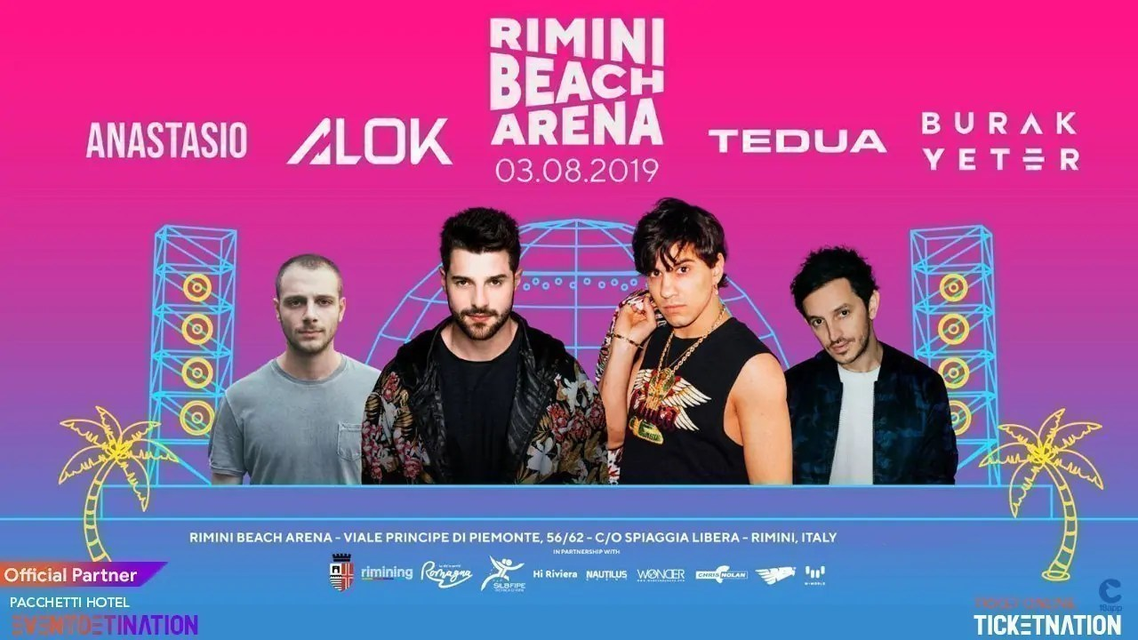 Tedua Rimini Beach Arena Sabato 03 Agosto 2019