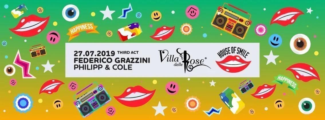 Villa delle Rose Sabato 27 Luglio 2019 FEDERICO GRAZZINI + Prezzi Ticket/Biglietti/Prevendite 18APP Tavoli Pacchetti hotel