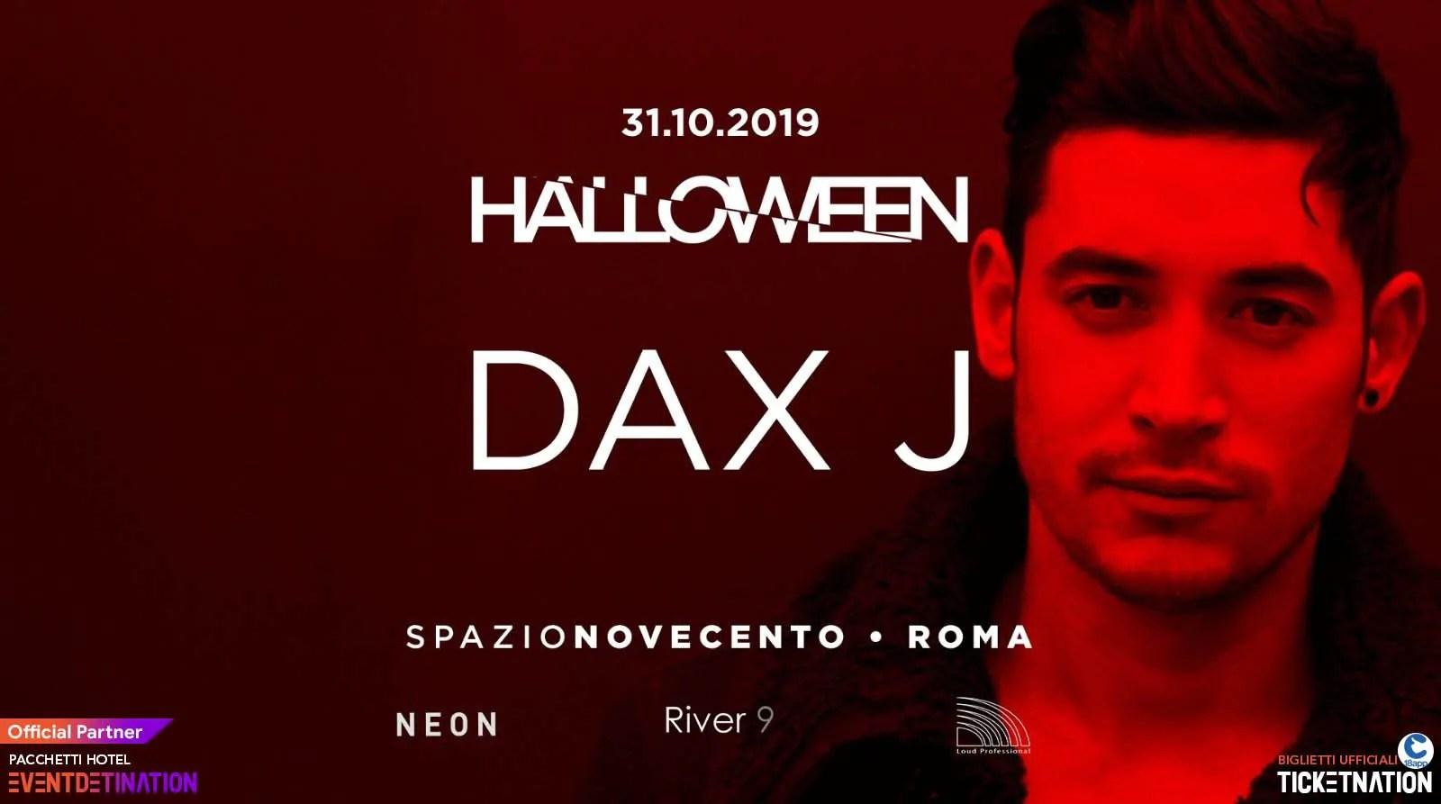 Halloween 2019 Dax J Spazio Novecento Roma – 31 Ottobre 2019