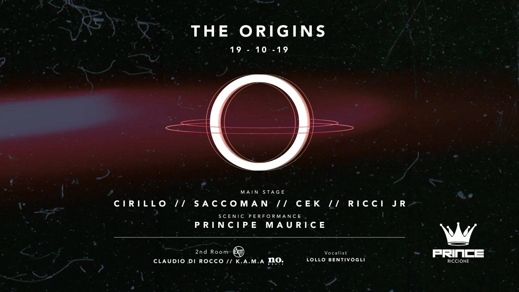 Opening Party Prince Club Riccione The Origin Sabato 18 Ottobre 2019