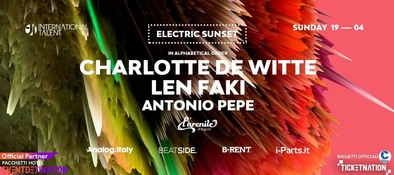 Charlotte de Witte e Len Faki International Talent at Arenile Bagnoli Napoli – Domenica 19 Aprile 2020