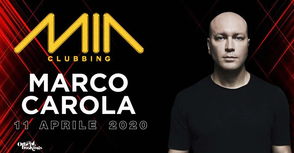 Marco Carola al Mia Clubbing Porto Recanati il 11 04 2020