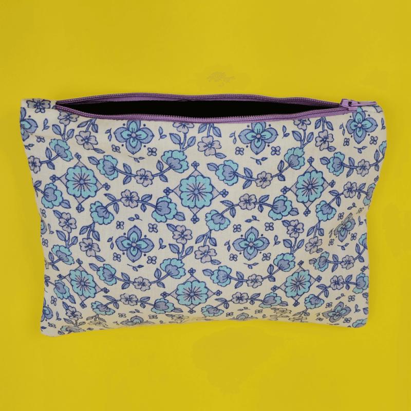 pochette lilas baby blue écologique