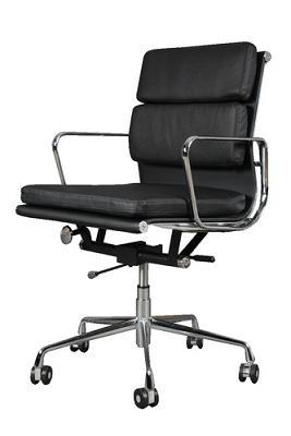 fauteuil soft pad group ea217 eames noir
