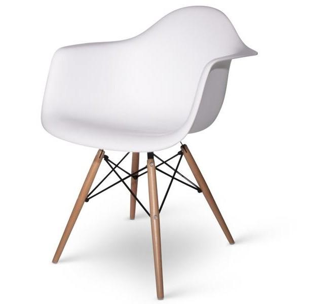 Lot De 4 Fauteuils Charles EAMES DAW Blanc Discount Design