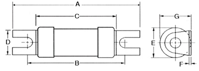 Lawson NIT20 Type NIT BS88, IEC60269-2 Industrial HRC Fuse