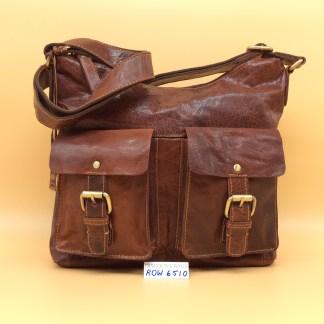 Rowallan Leather Bag - 6510. Cognac