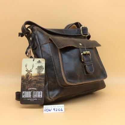 Rowallan Leather Bag. 9266. Brown
