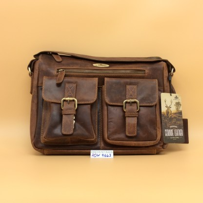 Rowallan Leather Bag. 9643. Breda