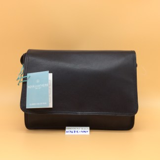 Nova Leather Bag. N768. Navy