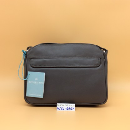 Nova Leather Bag. N554. Grey