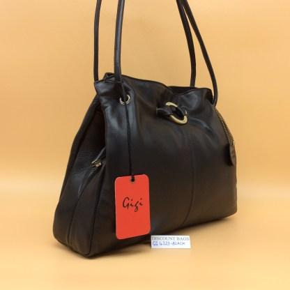 GIGI Soft Leather Bag - 4323G. Black