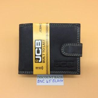 RFID Leather Wallet.NC - 45EH Black