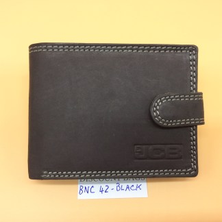 RFID Leather Wallet - NC 42. Black