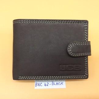 RFID Leather Wallet - NC 42. Black