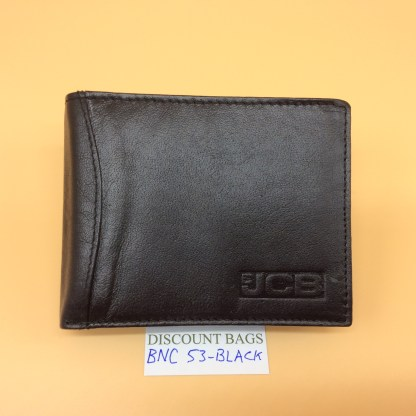 RFID Leather Wallet - NC53. Black