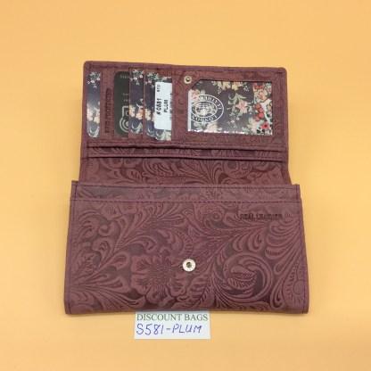 London Leather Goods. 0581. Plum