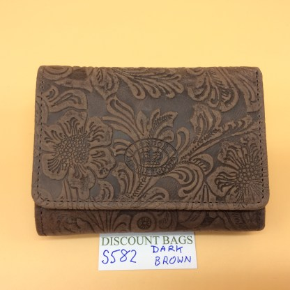 London Leather Goods. 0582. Dark Brown