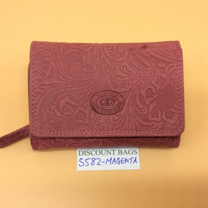 London Leather Goods. 0582. Magenta