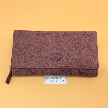 London Leather Goods. 0584. Plum