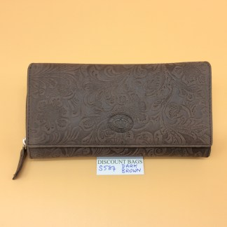 London Leather Goods. 0584. Dk. Brown