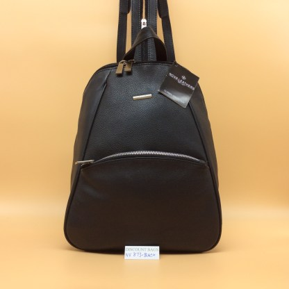 Nova Leather Rucksack. 873 Black