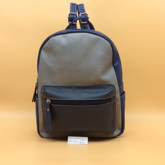 Envy Faux Leather Rucksack. Zoe. Navy Multi