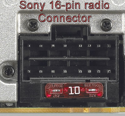 pioneer wiring harness diagram 16 pin volvo 740 1986 bhson16 replacement for select sony radios radio