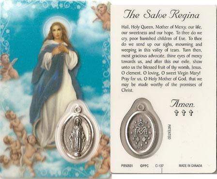 The Salve Regina Laminated Prayer Card