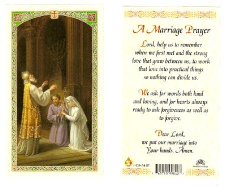 A Marriage Laminated Prayer Card