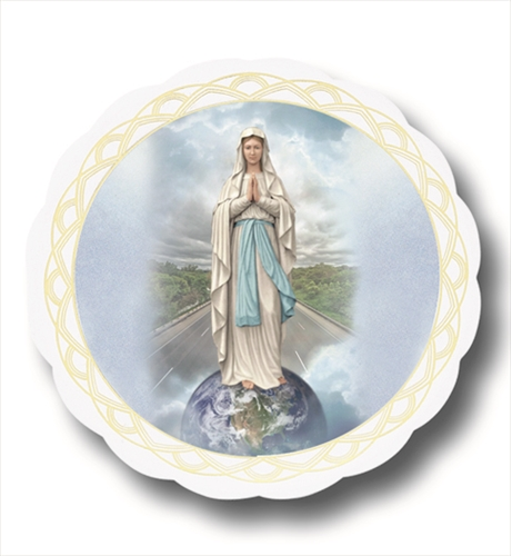 3 Inch Our Lady of the Highway Automobile Window Sticker
