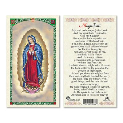 Magnificat Prayer Card Catholic Laminated Prayer Card