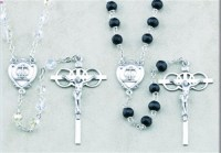 Sterling Silver Wedding Rosary Set