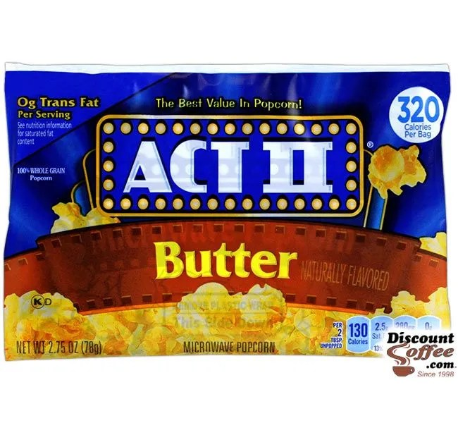 butter act ii microwave popcorn 36 case
