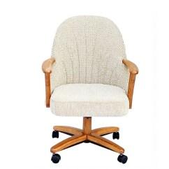Chromcraft Furniture Kitchen Chair With Wheels Moen Faucet Leaking C127 936 Swivel Tilt Caster Arm