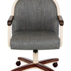 Chromcraft Furniture Kitchen Chair With Wheels Small Rectangular Table Core C188 855 Swivel Tilt Caster Arms