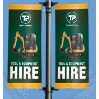 Lamp Post Banners - Printed Lampost Banner Advertsing